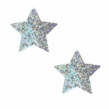 Unicorn Tears White Sparkle Sequin Starry Nights Pasties