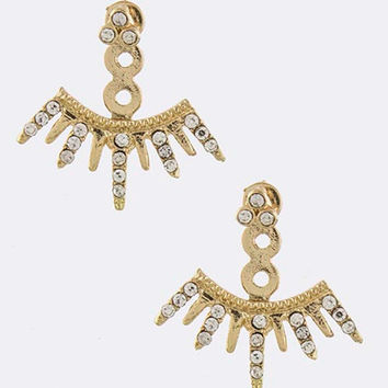 The Phoenix Double-Sided Ear Jackets Earrings