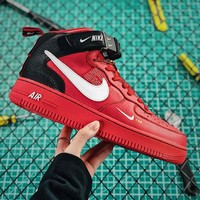 Nike Air Force 1 07 Mid Utility Pack Red Black White Fashion Shoes - Best Online Sale
