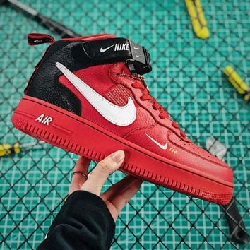 Nike Air Force 1 07 Mid Utility Pack Red Black White Fashion Sho 01a64d099f