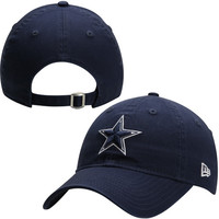 Dallas Cowboys New Era Women's Essential 9FORTY Adjustable Hat - Navy Blue