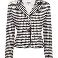 Chanel Black And White Boucle Jacket by Vintage Chanel for Preorder on Moda Operandi