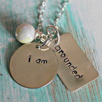 "Hand Stamped, Inspiration ""i am"" Necklace, I am Grateful, I am Amazing, I am Fabulous, I am Forgiven, I am Divergent, You pick the word!"