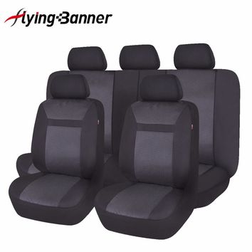 Full Set Car Seat Cover Universal Fashion Jacquard Knitted Auto