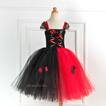 Suicide Squad Tutu Dress. Harley Quinn Dress. Daddy's Lil Monster. Harley Quinn Fancy Dress. Harley Quinn Outfit. Harley Quinn Costume.