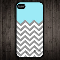 chevron iPhone 4 Case, iphone 4s case, gray chevron iPhone black Hard Case for iphone 4 4s