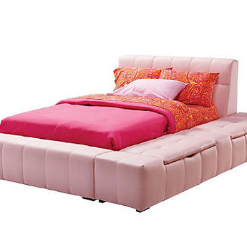 Zoey Pink Full Storage Bed