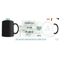 Arrow TV Series Breathe Aim Fire Morphing Mug