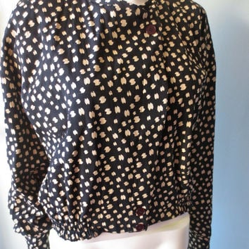 Vintage 1980s Italian Complice Versace Black and White Jacket
