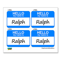 Ralph Hello My Name Is - Sheet of 4 Stickers