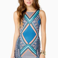 Geo Tribal Bodycon Dress