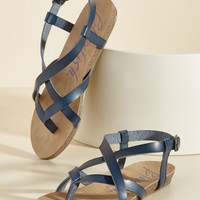 Everyday Nonchalance Sandal in Midnight | Mod Retro Vintage Sandals | ModCloth.com