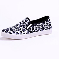Miss Me Leopard Print Slip On Shoes