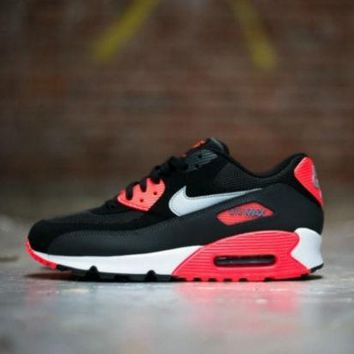 LMFYN6 AIR MAX 90 CASUAL WOMEN'S PINK RUNNING SHOES Black&Red