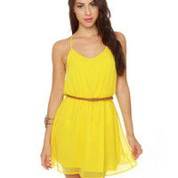 Cute Yellow Dress - Tank Dress - Summer Dress - $42.00