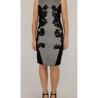 Katherine Barclay black grey dress
