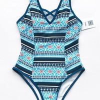 Cupshe City Of Sky Print One-piece Swimsuit