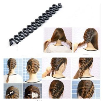 Roller Hook With Magic Hair Twist Styling Bun Maker Hair Band Accessories