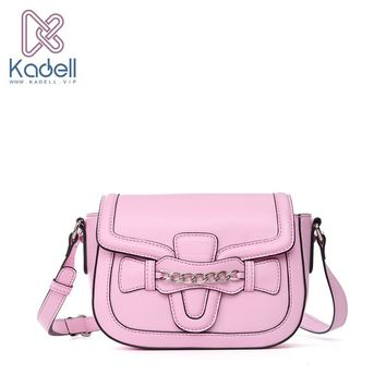Kadell Luxury Brand PU Leather Messenger Bag Women Shoulder Bag saddle Flap Clutch Bag Small Crossbody bag Envelope Purse Girls