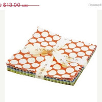 """Sale Fabric, Forever by Amy Butler, 5""""X5"""" Charm Pack, 30 pieces, FreeSpirit Fabrics"""