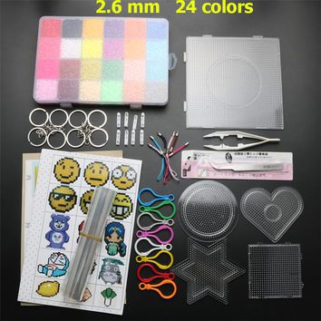 2.6mm 24 Colors 13000pcs EVA Hama Beads Pegboard Set Toy Educational Mini Perler Beads Template Puzzles DIY Kids Toys Brinquedos