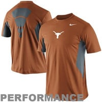 Texas Longhorns Nike Pro Combat 2014 Football Sideline Hypercool Performance Top - Burnt Orange