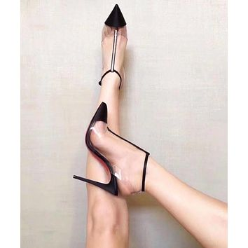 Cl Christian Louboutin Women Pointed Toe Heels Shoes TOP QUALITY BLACK PINK