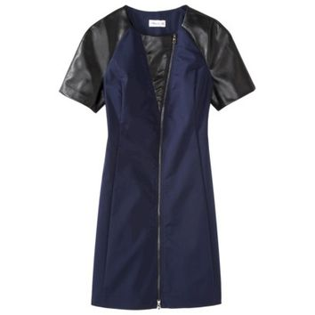 3.1 Phillip Lim for Target® Dress with Faux Leather -NavyBlack