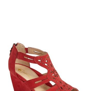 "Women's Earthies 'Morolo' Studded Nubuck Leather Wedge Sandal, 3"" heel"