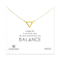 balance open triangle necklace, gold dipped - Dogeared