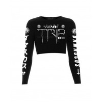 Trip Long Sleeve Crop Top