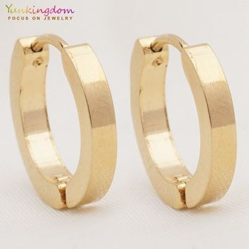 Yunkingdom classic jewelry stainless steel titanium hoop earrings for women fashion accessories UE0327
