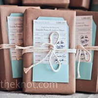 Real Weddings - An Outdoor Wedding in West Orange, NJ - Favorite Book Favors