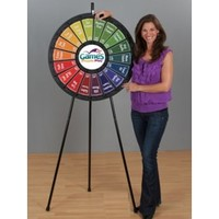 18 Slot Blk Floor Stand 31 Inch Prize Wheel