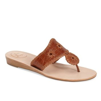 Cara Croco Sandal in Cognac by Jack Rogers - FINAL SALE