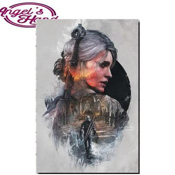 5D DIY Diamond Painting The Witcher 3: Wild Hunt Cirilla Fiona Elen Riannon Painting 3D DIY Diamond Embroidery By Numbers Mosaic