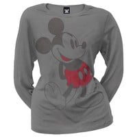 Mickey Mouse - Vintage Mickey Juniors Long Sleeve