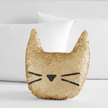 The Emily & Meritt Sequin Cat Pillow