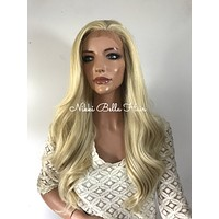 Light Ash Blond Waves lace front wig 20'