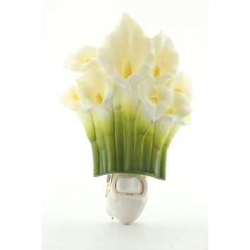 Calla Lily Night Light, Ibis & Orchid Nightlights, NIB, 50009