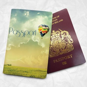 Flying Balloon Personalised Custom Name Passport Cover Passport Holder with FREE Name Printing (BBS013)