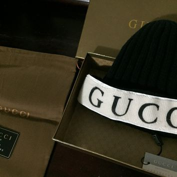 Gucci Runway Hat (In Rare Black Color with Cream band!!)