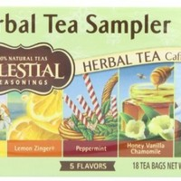 Celestial Seasonings Herbal Tea Sampler, 18 Count (Pack of 6)