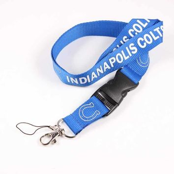 Indianapolis Colts Team Logo Tags Lanyard Neck Strap for ID Pass Card Phones Camera Holder American Football Fan Jewelry