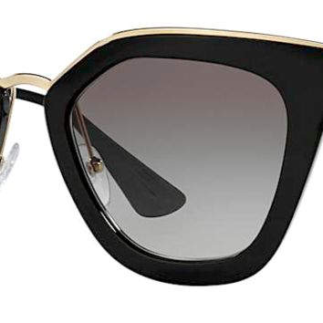 PRADA Cinema Black Cat Eye Sunglasses PR 53SS 1AB0A7