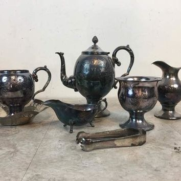 Vintage Silver Plated Tea Set