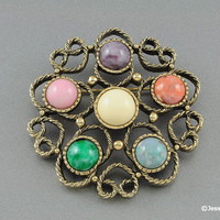 Vintage Brooch  Pin Sarah Coventry 1975 Festival Brooch