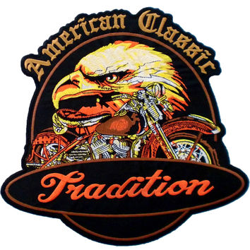 "American Classic Tradition Eagle Biker Big Back Patch 9.7""/25cm"