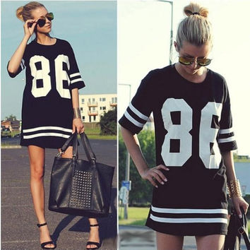 Baseball Short-Sleeved loose T-shirt