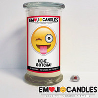Hehe, Gotcha! - Emoji Candles